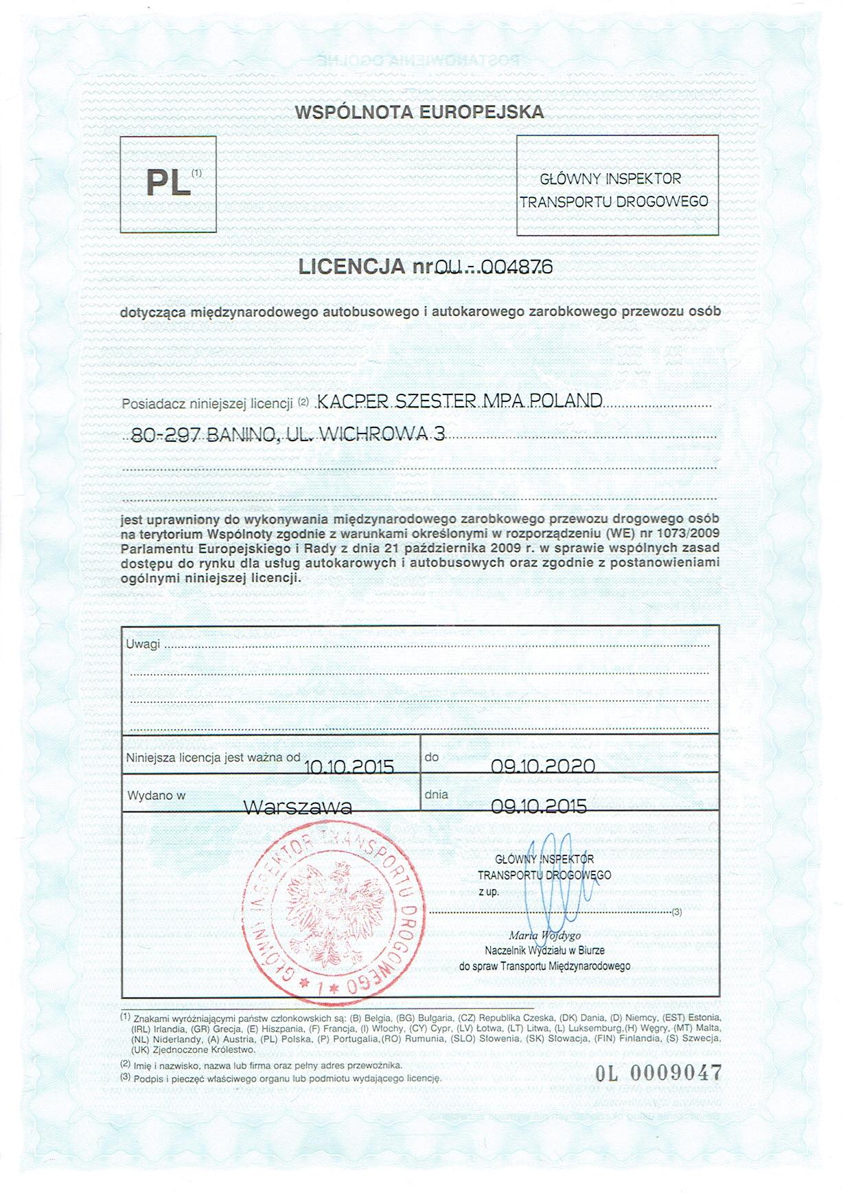 3. Licencja UE